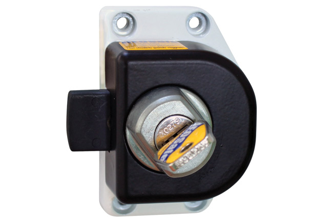 Security lock for cabin doors:  Ford Transit 2000-2006.